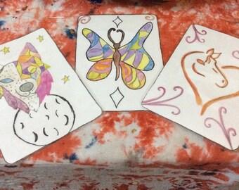 GypsyoftheRedirt Artist trading Cards.