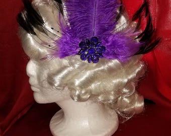 Opulent Purple Confection feather barrette