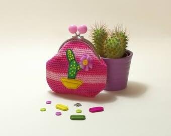 Cactus Crochet Coin Purse