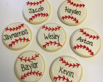 Baseball Decorated Cookies