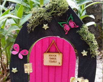 Magical pink Fairy Door