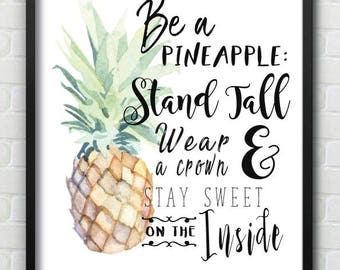 Be a Pineapple Wall Print