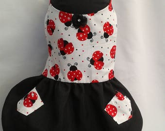 Ladybird Dog Dress SMALL S