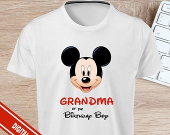 Mickey Mouse Iron On Grandma of The Birthday Girl - INSTANT DOWNLOAD