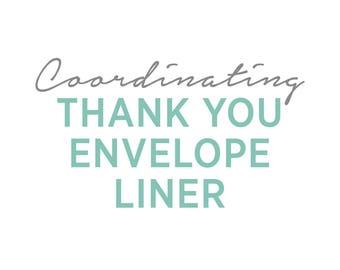 Coordinating Thank You Envelope Liner