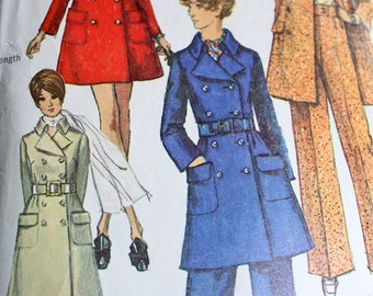 Fantastic Double Breasted Coat and Pants Pattern---Simplicity 8502 Size 12 Bust 34 *****