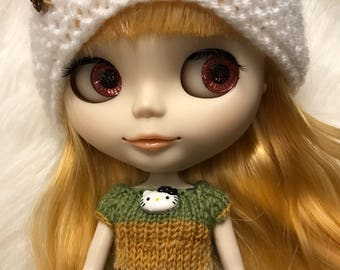 Blythe top sweater hand knitted