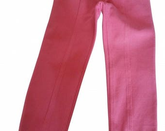 CHANEL - pink cotton Slim pants