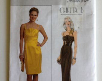 Butterick 5324, Misses Dress, uncut sewing pattern, B5324, Size 6 8 10 12, special occasion, shoulder straps, Chetta B