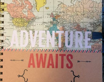 Small personalised travel scrapbook