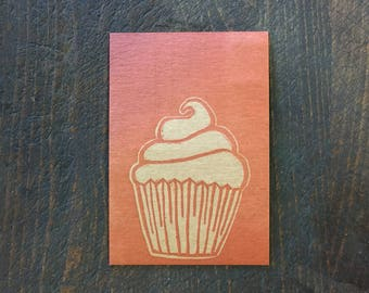 Red Cupcake Postcard