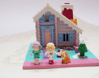 Polly pocket vintage, ski lodge, polly pocket, vintage toy, 90s toy, polly pocket ski lodge
