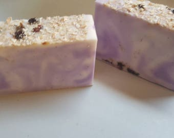 Variety of soap bars made with shea butter, hemp seed oil and/or olive oil