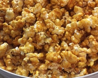 Caramel Corn, Nuts Optional ~ Butter-Loving Goodness! | Wonderful Christmas Gift and Rustic Wedding Snack | Popcorn Bar Favorite