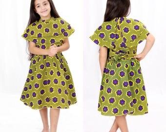 Jenke double cape minime ankara dress