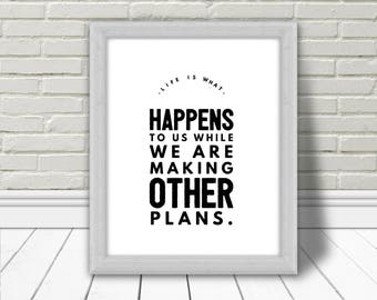 Allen Saunders, Art mural, Quote, Inspirational Quote, Printable Poster, Typography, Affiche Murale, Home decor, life, Download