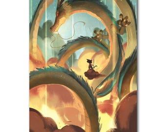 Dragon Ball Z dragon ball Silk Fabric Poster Goku