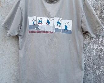 Vintage VISION STREET WEAR Vision Skateboard Spell Out Tshirt