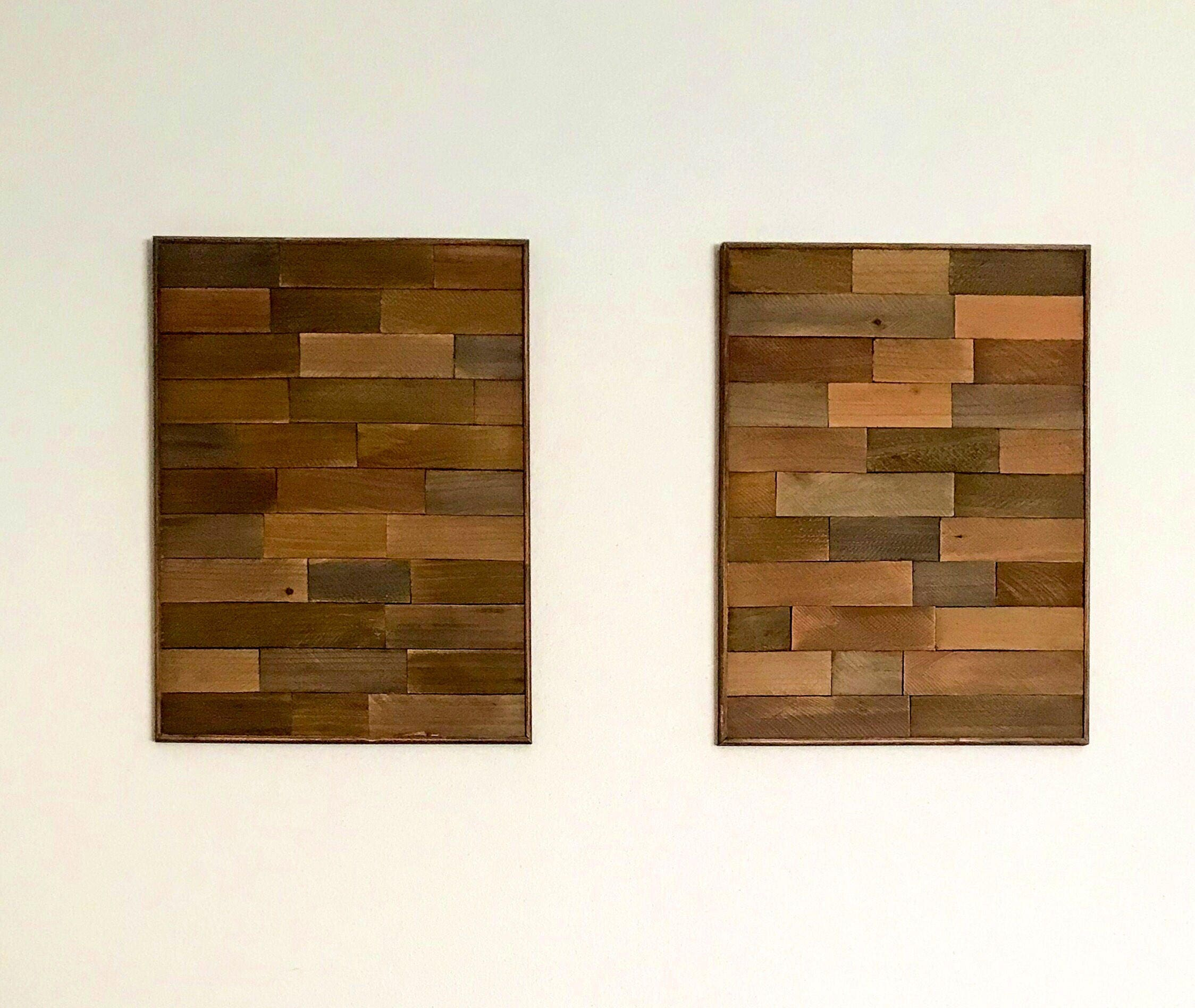 Wood Art Decor Cool Rustic Quilted Wood Geometric Wall Art Decor Set Of 2 Design Decoration