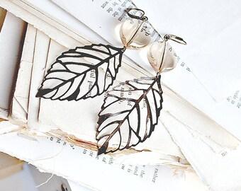 filigree leaf earrings.