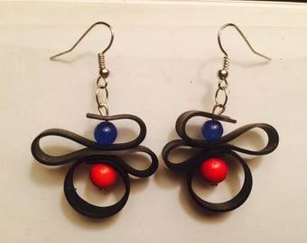Re-purposed bike tube earrings