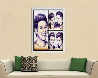 One Direction poster, One Direction, Rock, Wall art, Pop, liam payne, louis tomlinson, Music poster, gift, print, niall horan, harry styles