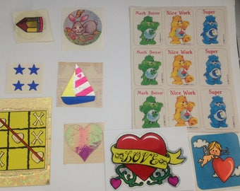 Big Lot Of Vintage 1980s 80s Stickers #2