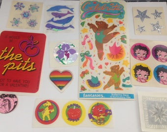 Big Lot Of Vintage 1980s 80s Stickers #12
