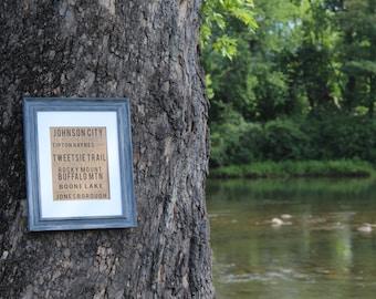 Johnson City Tennessee List - Digital Download Print