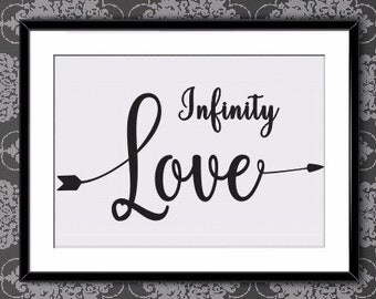 Infinite Love Arrow, Now, Now Poster, Now Printable, Motivational Quotes, Black Print, Wall Art, Format A4