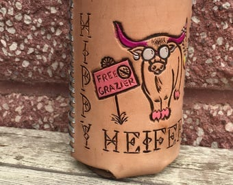 The Hippy Heifer drink cozie