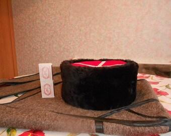 High quality replica of a 19 century Imperial Russia Cossack Genuine handmade black sheepskin cossack kubanka papakha hat, Cossack kubanka