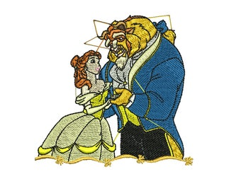 Belle Embroidery Design, Beauty and the Beast Embroidery Design, Disney Princess Embroidery Design, Baby Embroidery Design, Girl embroidery