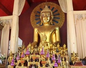 Buddha - Temple - Bhumisparsha Mudra - Thailand - Instant Download
