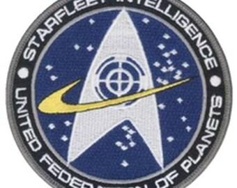 "FREE SHIPPING-Domestic-InspireMeByAudrey Star Trek Starfleet Intelligence Logo Uniform Embroidered Sew/Iron-on Patch 4"""