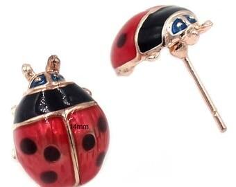 FREE SHIPPING-Domestic-InspireMeByAudrey Cute Ladybug Stud Earrings