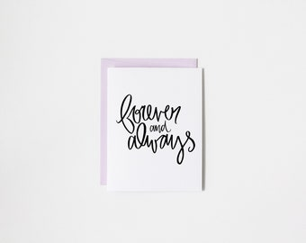 forever and always greeting card