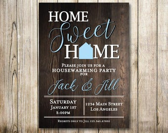 Rustic House Warming Digital Invitation