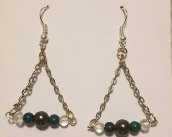 Triangle Chain Dangle Earrings