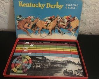 Vintage Kentucky Derby Board Game
