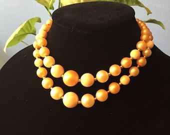 Yellow retro choker necklace