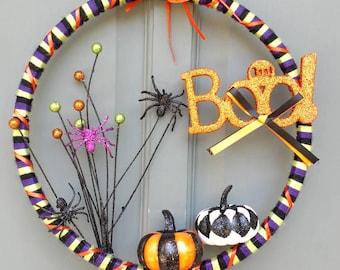 10 inch Halloween wreath