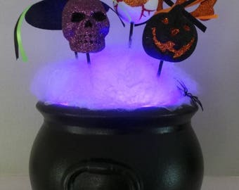 Lighted Halloween centerpiece