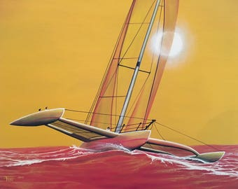 Scenery; Catamaran Sunset.  Free Shipping!