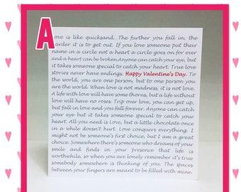 Personalised Valentine's Card
