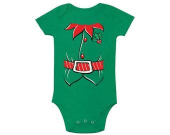 Elf Costume Baby Bodysuit Christmas bodysuit Kids Christmas Outfit Christmas baby outfit infant christmas baby boy christmas baby girl