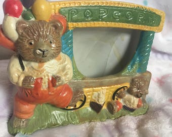 Popcorn Bear Picture-frame