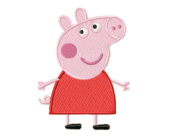 Peppa pig embroidery design, machine embroidery designs, instant download, 7 sizes, embroidery designs