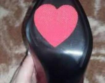 anti slip hearts stickers