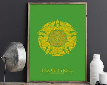 House Tyrell Banner, Game of Thrones Poster, House Tyrell Wall Art, Game of Thrones Banner, Got Gift, Tyrell Print, Growing Strong